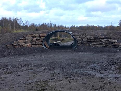 Tunneln från Bruksvallarna återanvänds nu på Mösseberg i Falköping. FOTO: Falköpings AIK Skidor.