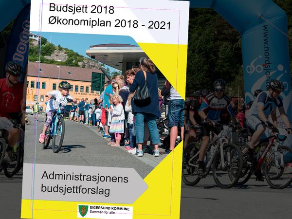 Forside til budsjettforslaget 2018