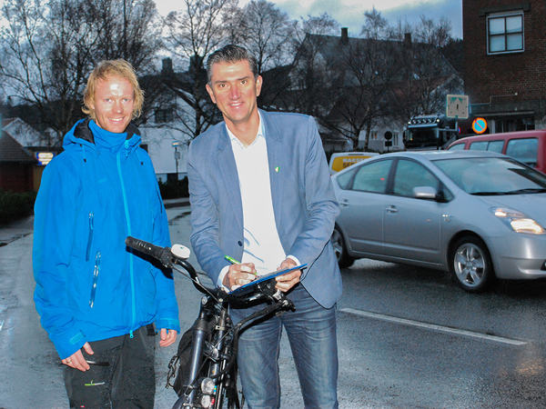 Signering av sykkelavtale