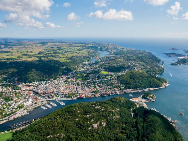 Flyfoto over Egersund