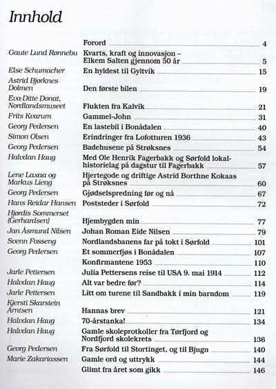 Innholdsfortegnelse årbok 2017