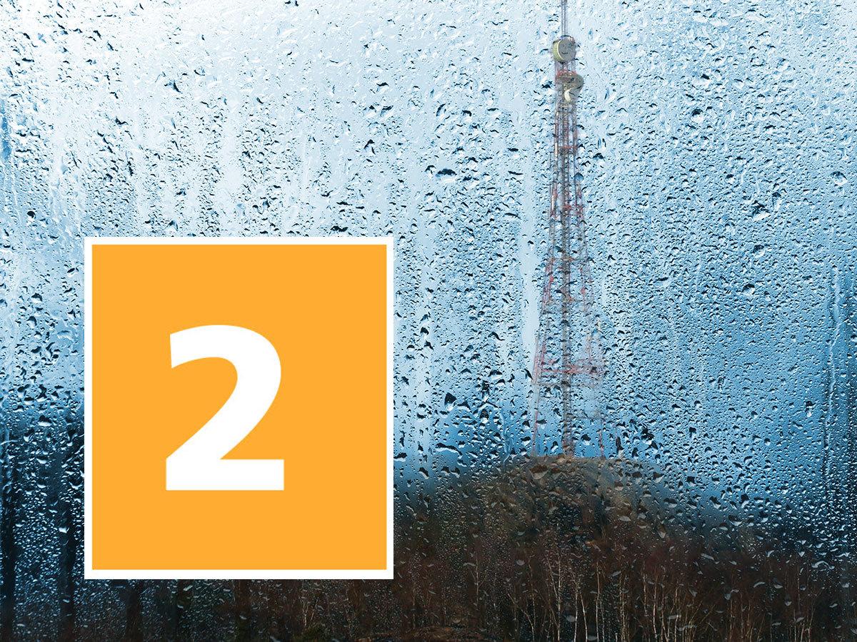 Varsel om regn - nivå 2