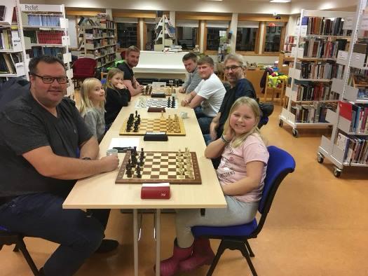 Sjakk-kveld på bibilioteket
