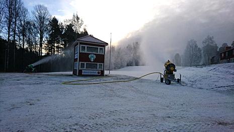Rättvik har ett bra klimat för att producera konstsnö. FOTO: IK Jarl.