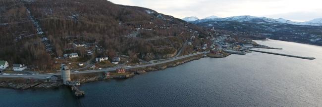 Utsikt mot Karavika boligfelt
