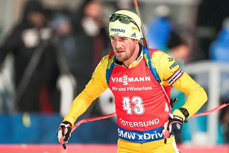 Fredrik Lindström sköt fullt och slutade sjua på sprinten i Östersund. FOTO: Tobias Nykänen/Bildbyrån.