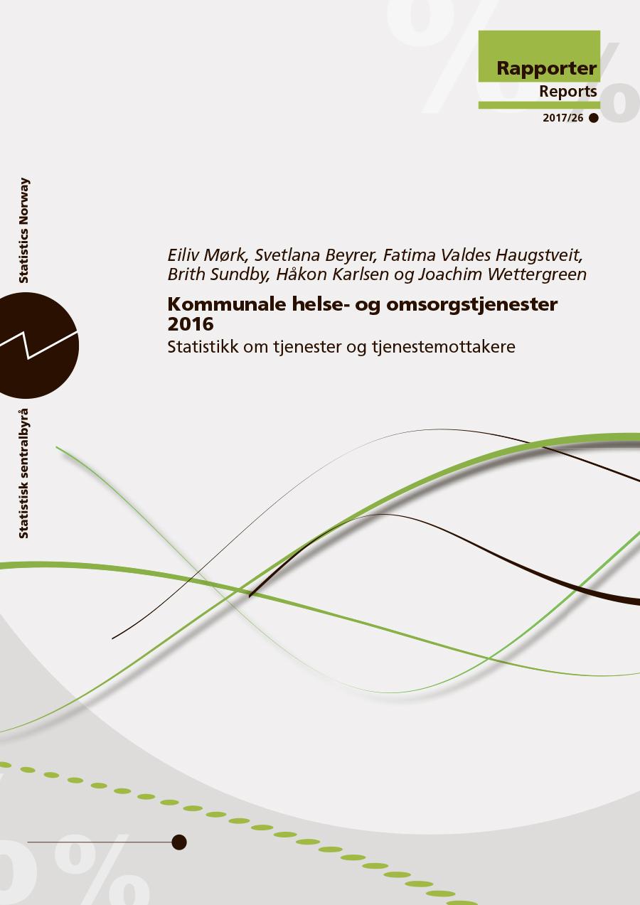 Omslagsbilde Kommunale helse- og omsorgstjenester 2016 - Statistikk om tjenester og tjenestemottakere