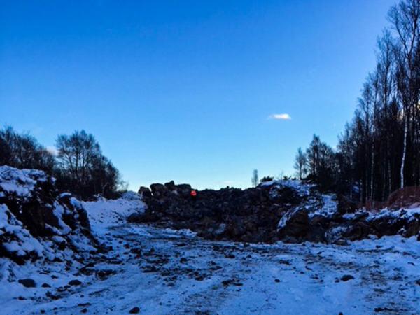 Ny gravlund med snø