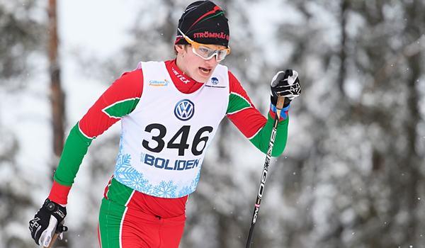 Pål Jonsson vann 15 kilometer klassiskt i H 17-18 i överlägsen stil vid Scandic cup i Kalix på lördagen. FOTO: Carl Sandin/Bildbyrån.