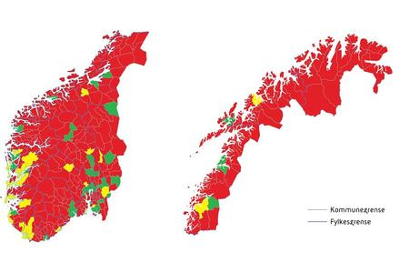 Norgeskart som viser frivilligheten