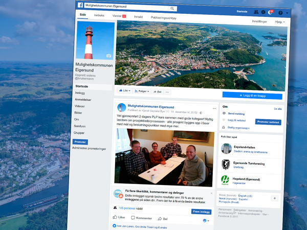 Mulighetskommunen på Facebook