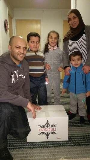Flyktningefamilier fikk julegaver