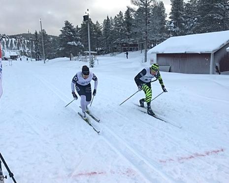 Britta Johansson Norgren vann damklassen i överlägsen stil och hade en tight spurt med Ronny Wedin. FOTO: Marcus Laggar.