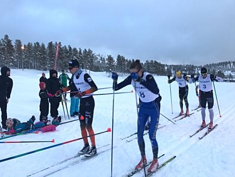 Varvning med från vänster: Simon Andersson, Pontus Nordström, Andreas Svensson och Oscar Persson. FOTO: Marcus Laggar.