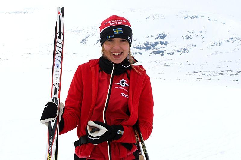 Emma Ravakko från Sävedalens AIK Skidor är med och gör en film om hur det är att vara skidjunior i Göteborg. FOTO: Sävedalens AIK Skidor.