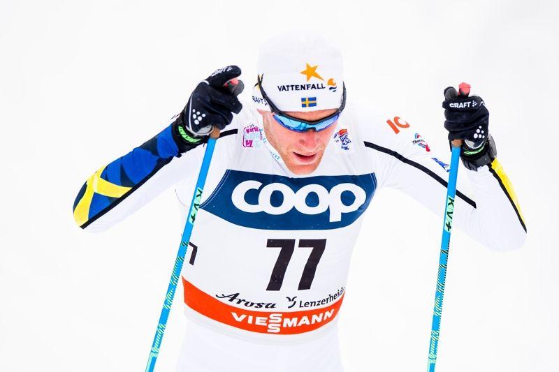 Daniel Rickardsson blev bäste svensk på 15 kilometer klassiskt med en 18:e plats på andra Tour de Ski-etappen. FOTO: Jon Olav Nesvold/Bildbyrån.