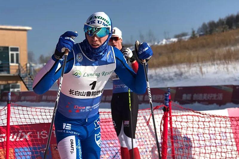 Simon Persson vann första etappen på China Tour de Ski som startade på nyårsafton. FOTO: NordicWays.