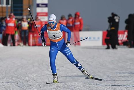 Jackline Lockner öppnade, precis som Simon Persson, China Tour de Ski med en seger. FOTO: NordicWays.