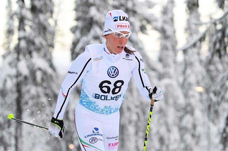 Charlotte Kalla tävlar i Skandinaviska cupen i Piteå kommande helg. Tävlingarna livesänds på webben. FOTO: Carl Sandin/Bildbyrån.