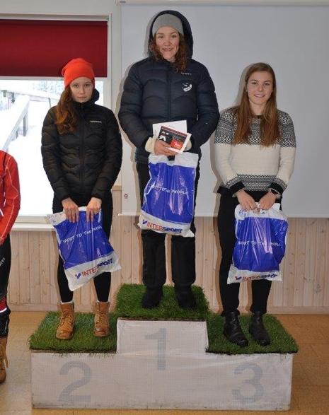 Topptrion bland tjejerna: Maja Majbäck, Moa Lundgren och Johanna Hagström. FOTO: Östersunds SK.
