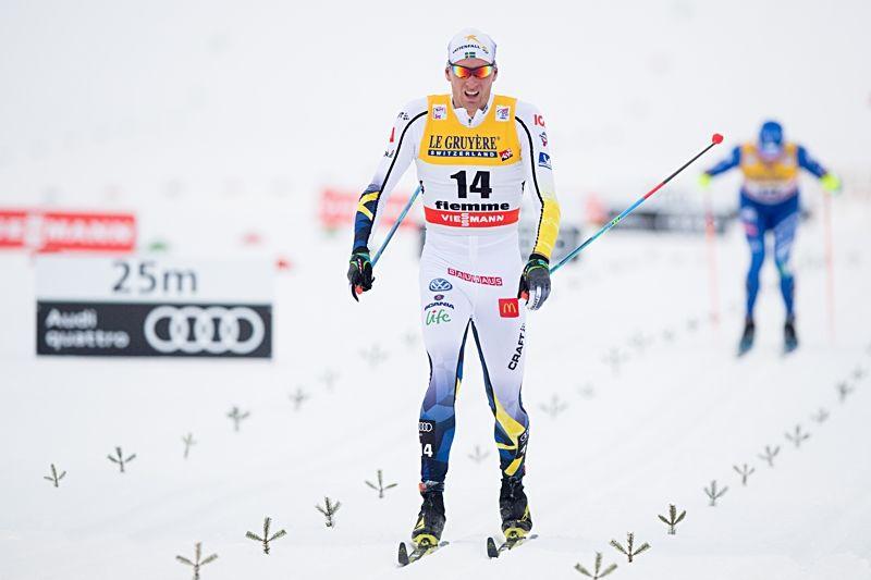 Daniel Rickardsson åkte in som sexa på Tour de Ski:s masstart i Val di Fiemme. FOTO: Jon Olav Nesvold/Bildbyrån.