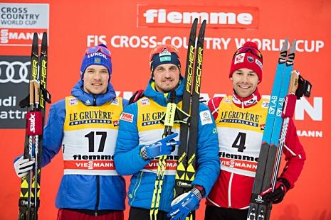 Topptrion: Larkov, Poltoranin och Harvey. FOTO: Jon Olav Nesvold/Bildbyrån.