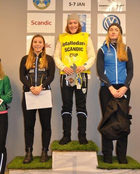 D 19-20-pallen: Johanna Hagström, Moa Lundgren och Emma Larsson. FOTO: Östersunds SK.