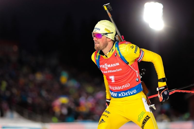 Fredrik Lindström förde Sverige till seger vid världscupstafetten i Oberhof. FOTO: Tobias Nykänen.