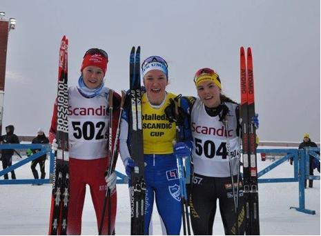 Topp tre i D 19-20: Alicia Persson, Moa Lundgren och Johanna Hagström. FOTO: Östersunds SK.