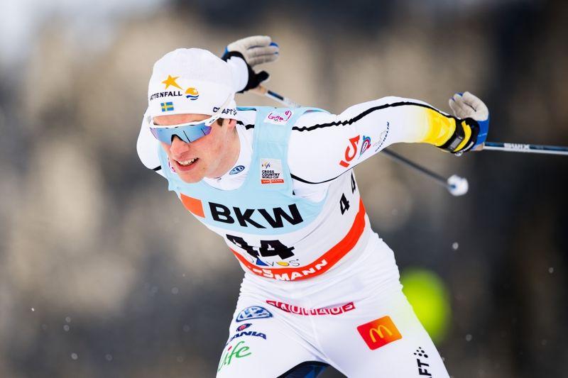 Karl-Johan Dyvik vid världscupsprinten i Davos. Nu får IFK Mora-åkaren chansen i landslaget igen vid helgens sprint i Dresden. FOTO: Jon Olav Nesvold/Bildbyrån.