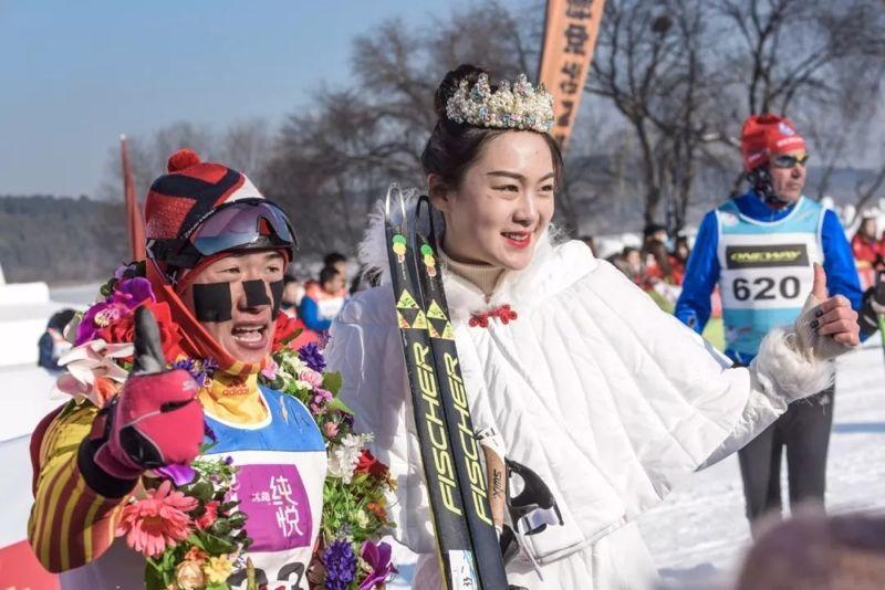 JinLe Tang tog en bejublad hemmaseger i fem mil långa Vasaloppet China. FOTO: Vasaloppet China.