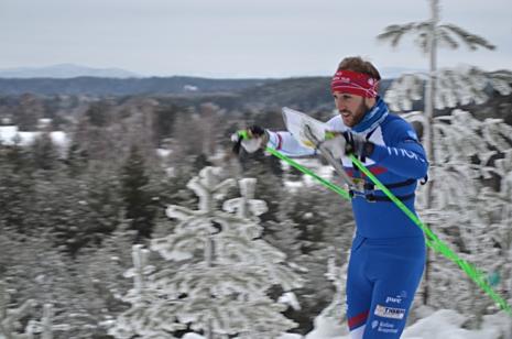 IFK Mora OK är klubben med flest uttagna i EM-truppen, fyra stycken. Här syns Linus Rapp som vann söndagens långdistanstest i Mora. FOTO: Johan Trygg/Längd.se.