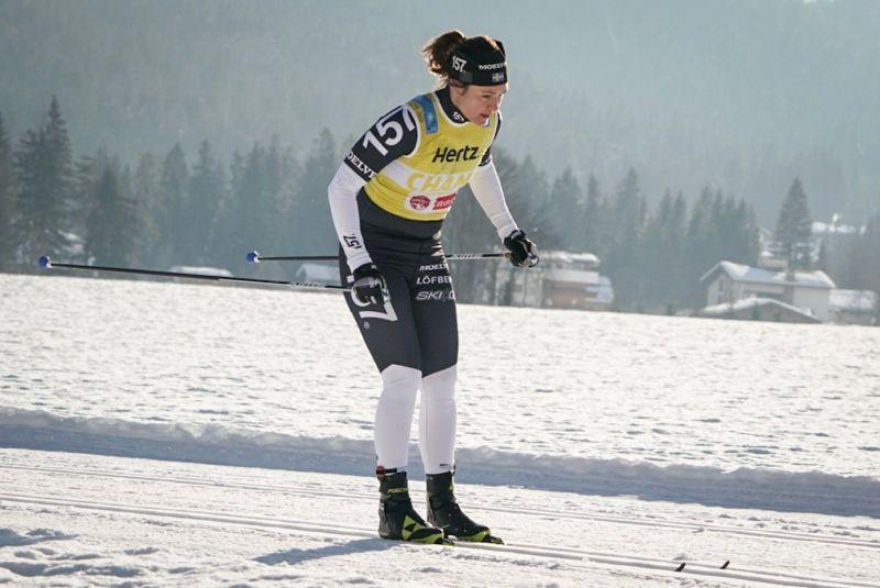 Britta Johansson Norgren tog en ny seger i Ski Classics när hon på lördagen vann La Diagonela. Bilden från förra helgens seger på Kaiser Maximilan Lauf. FOTO: Magnus Östh.