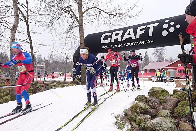 Senaste dagarnas kyla har räddad 16:e upplagan av fyra mil långa Stråkenloppet i Mullsjö. FOTO: Mullsjö SOK.