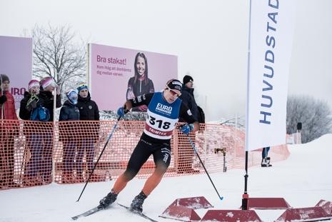 Hugo Jacobsson fick nöja sig med en andraplats. FOTO: Henrik Rådmark.