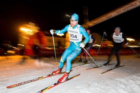 Det blir action under sprinten. Här SK Bores Johannes Ringsby vid förra årets sprint. FOTO: Engelbrektsloppet.