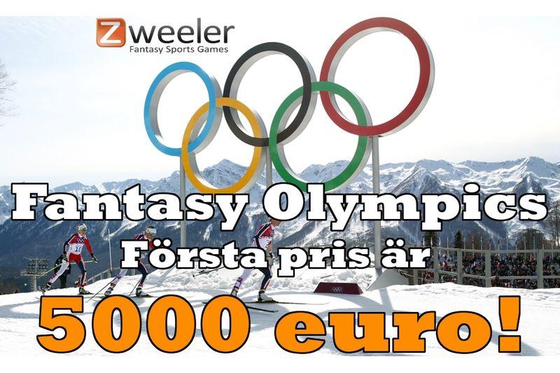 Nu kan du spela Fantasy Olympics 2018 där första pris är hela 5000 euro.