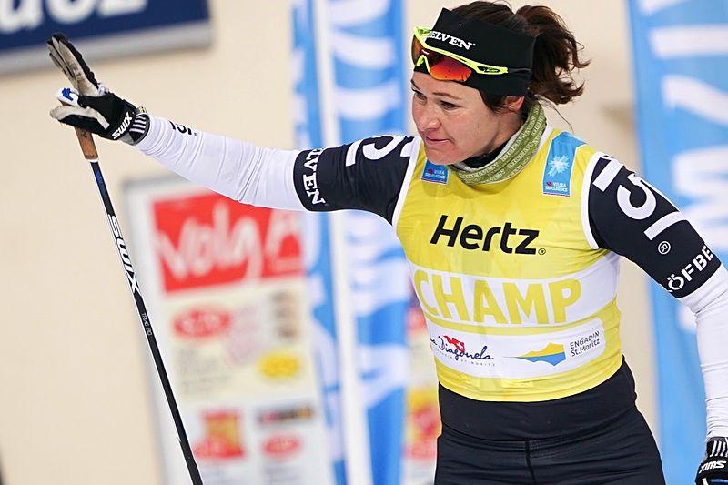 Britta Johansson Norgren vann Marcialonga efter en stenhård spurt mot Katerina Smutna. FOTO: Magnus Östh.
