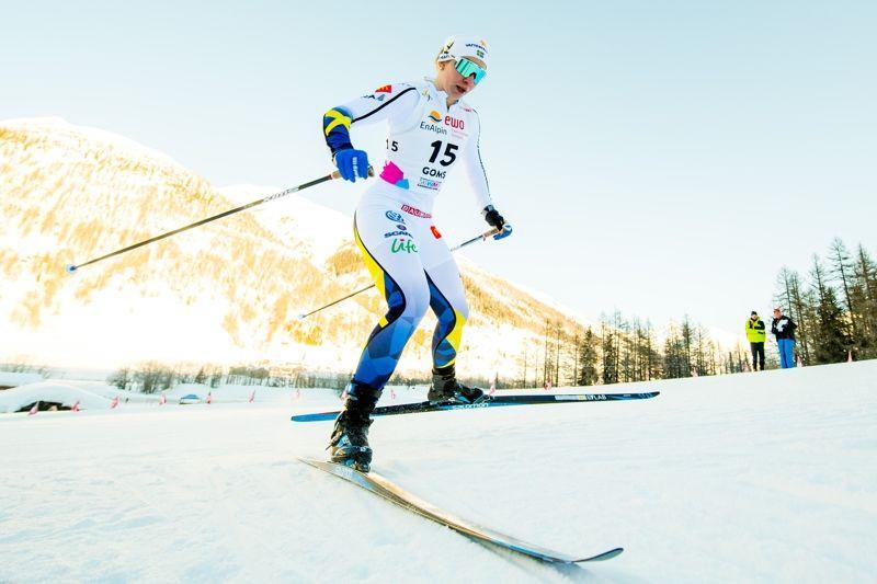 Moa Olsson slutade på elfte plats vid U23-VM-sprinten på måndagen. Här är Moa i prologen där hon hade nionde tid. FOTO: Vegard Wivestad Grött/Bildbyrån.