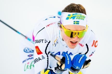 Moa Lundgren som vann sprinten slutade nia på fem kilometer klassiskt. FOTO: Vegard Wivestad Grött/Bildbyrån.