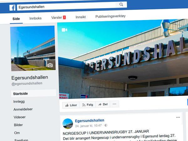 Egersundshallen på Facebook