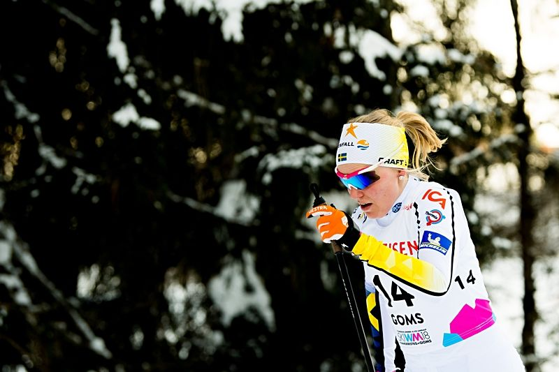 Lisa Vinsa åkte in som elva på skiathlon-loppet vid U23-VM. FOTO: Vegard Wivestad Grött/Bildbyrån.