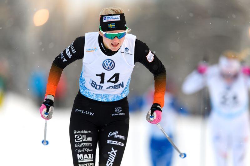 Maja Dahlqvist vann sprinten vid Volkswagen Cup i Ulricehamn. FOTO: Carl Sandin/Bildbyrån.