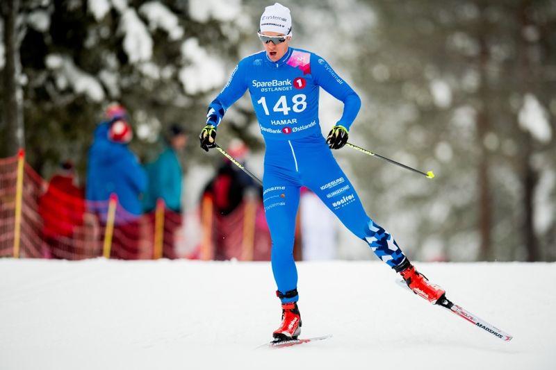 Anton Lindblad vann 15 kilometer fristil vid Volkswagen Cup i Ulricehamn på söndagen. FOTO: Jon Olav Nesvold/Bildbyrån.
