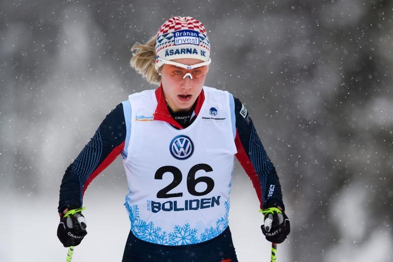 Josefina Sundman vann 10 kilometer klassiskt vid Scandic Cup i Ulricehamn. FOTO: Carl Sandin/Bildbyrån.
