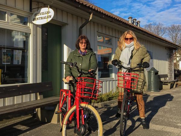 Frivilligsentralen på sykkel
