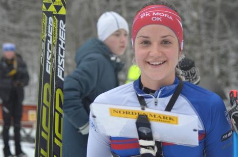 Magdalena Olsson tog EM-silver på långdistansen bakom ryskan Mariya Kechkina. FOTO: Johan Trygg/Längd.se.