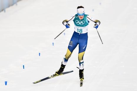 Ebba Andersson på väg mot fjärde plats. FOTO: Petter Arvidsson/Bildbyrån.
