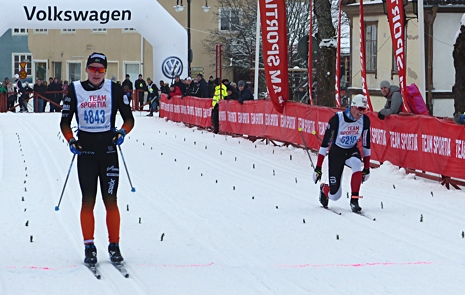Hugo Jacobsson var snabbast i Engelbrektshalvan precis före Ragnar Bragvin Andersen. FOTO: Johan Trygg/Längd.se.