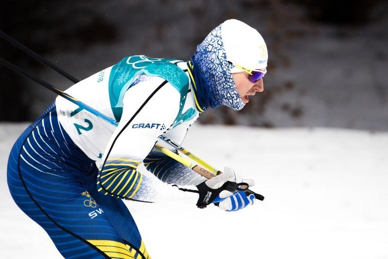 Teodor Peterson var snabbast av svenskarna i sprintprologen på OS i Sydkorea. FOTO: Carl Sandin/Bildbyrån.